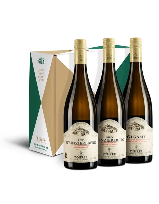 Weinabo-Abothek-Dezember-Kistl-Weinzierlberg-Anton-Zoehrer-Kistl-Flaschen_web